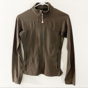 Lululemon Brown Zip Front Jacket